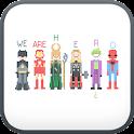 Pixel Art go launcher theme icon