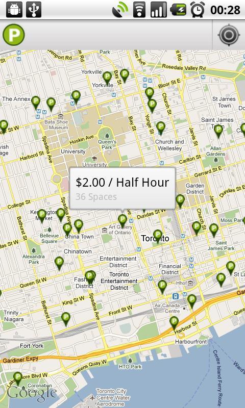 Green Parking Toronto- screenshot
