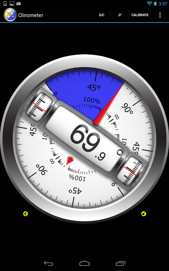 Clinometer  +  bubble level - screenshot