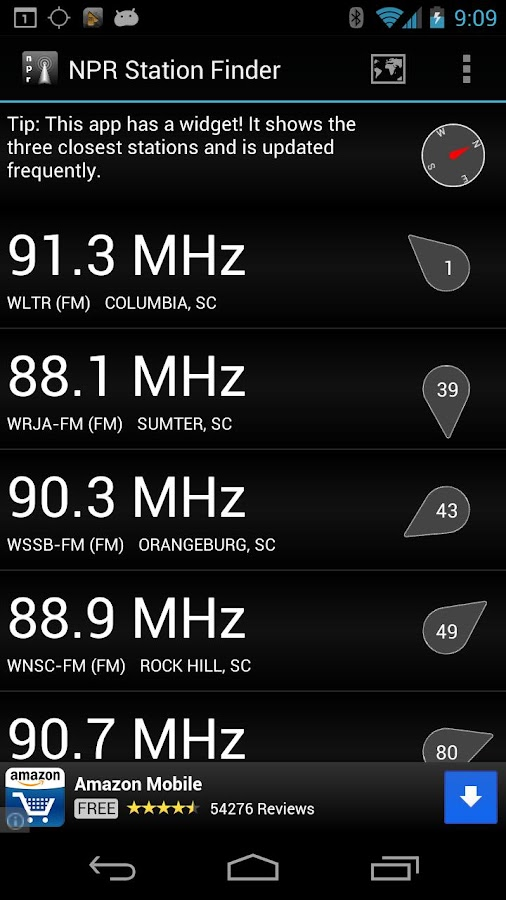 NPR Station Finder- screenshot