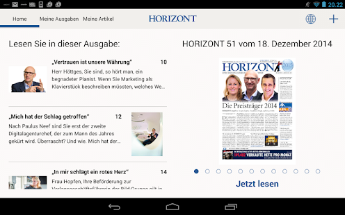 HORIZONT E-Paper- screenshot thumbnail