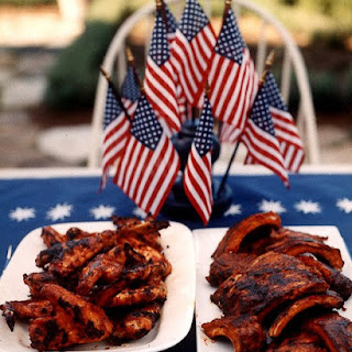 Barbecued Chicken Wings.