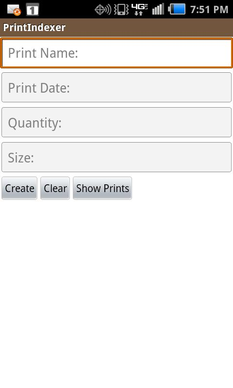 Print Indexer- screenshot