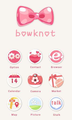 360手机桌面主题-bowknot