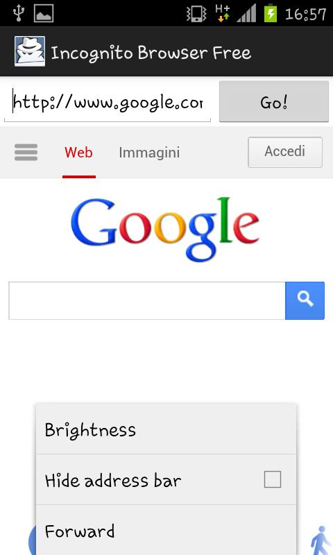 Incognito Browser Free - screenshot
