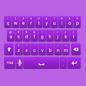 Purple Galaxy Keyboard Skin