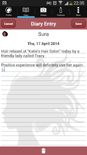 Hair Journal- screenshot thumbnail