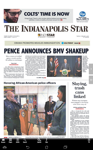 The Indianapolis Star Print
