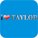 I Love Taylor doo-dad logo
