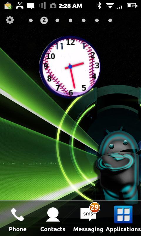 Baseball Clock Widget- screenshot