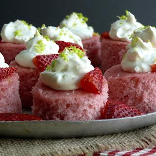 Strawberry Margarita Cake Bites.
