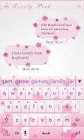 Screenshot of Love Light GO Keyboard Theme