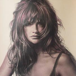 HELENA II by Kile Zabala - Drawing All Drawing ( draw, color, paint, retrato, dibujo, lápiz, pintura, portrait, drawing )