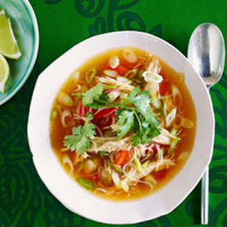 Spicy Asian Chicken Noodle Soup.