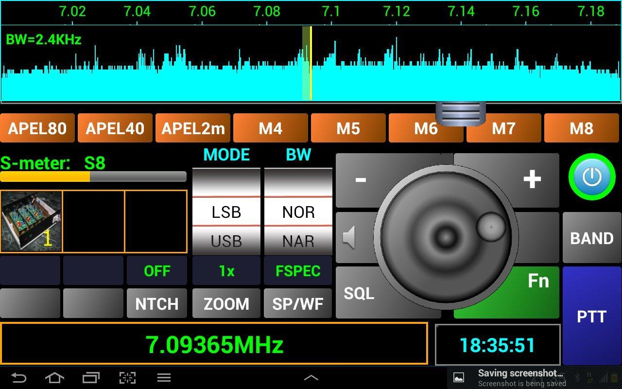 Pocket RxTx - screenshot