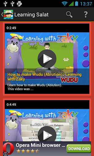 Learning Salat for Kids