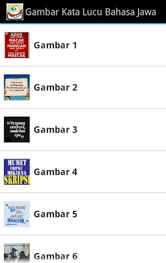 Gambar Kaca Lucu Bahasa Jawa