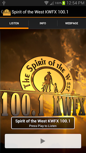 Spirit of the West KWFX 100.1
