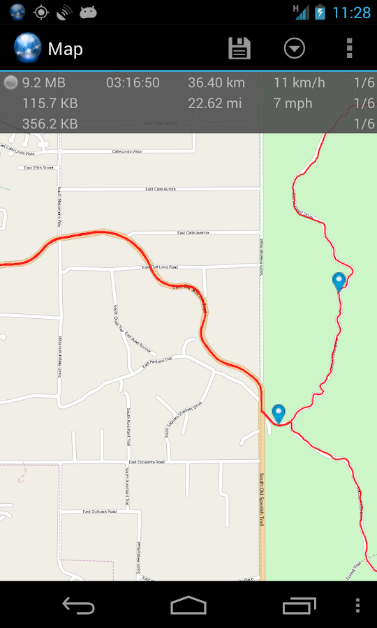 Ultra GPS Logger - screenshot