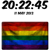 Gay Pride Digital Clock