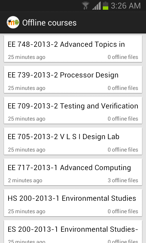 MDroid - Moodle mobile client - screenshot