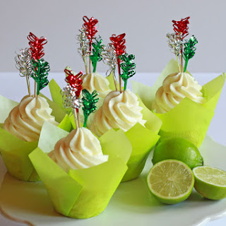 Glazed Tequila-Lime Cupcakes.