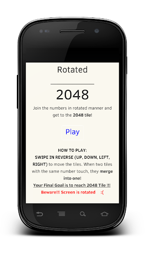 Rotated 2048 Number Game