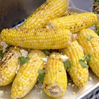 Grilled Corn On The Cob With Dill Butter.