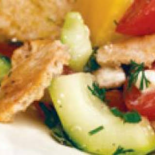 Veggie-Pita Bread Salad.