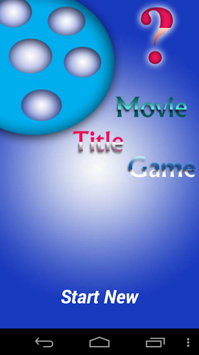 Movie Title Game