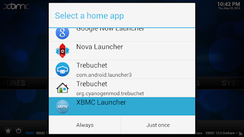 Screenshot of XBMC Launcher