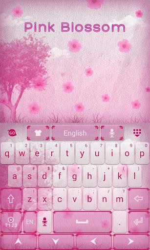 玩生產應用App Pink Blossom GO Keyboard Theme免費 APP試玩