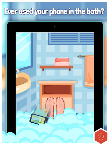 Bubble Bath Smart Phone Rescue