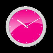 Pink Analog Clock