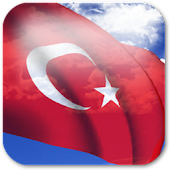 3D Turkey Flag Live Wallpaper+