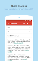 Screenshot of EasyBib: Citation Generator