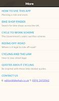 Screenshot of Bike Hub Cycle Journey planner