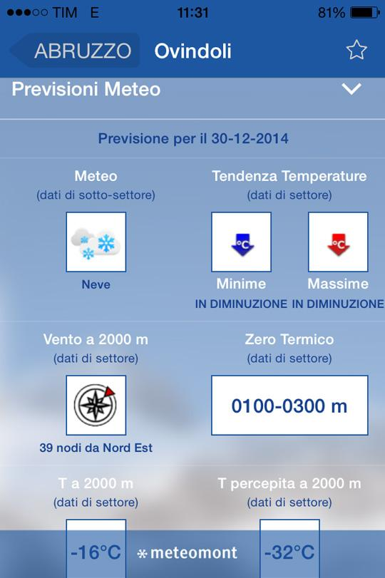 Meteomont- screenshot