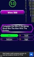 Screenshot of Millionaire quiz game