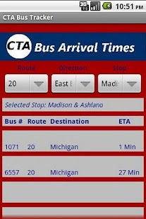 CTA Bus Tracker - screenshot thumbnail