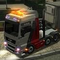 Heavy truck parking icon