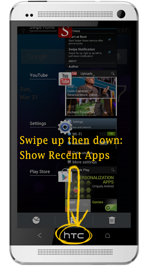 Swipe Home Button - screenshot