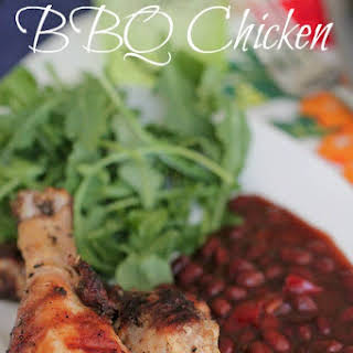 Lemon Herb BBQ Chicken with Sweet Mesquite Beans.