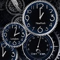 Black world time clock
