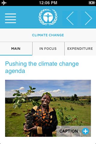 UNEP Annual Report 2013- screenshot