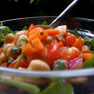 Garbanzo Bean and Baby Arugula Salad with Cumin Vinaigrette