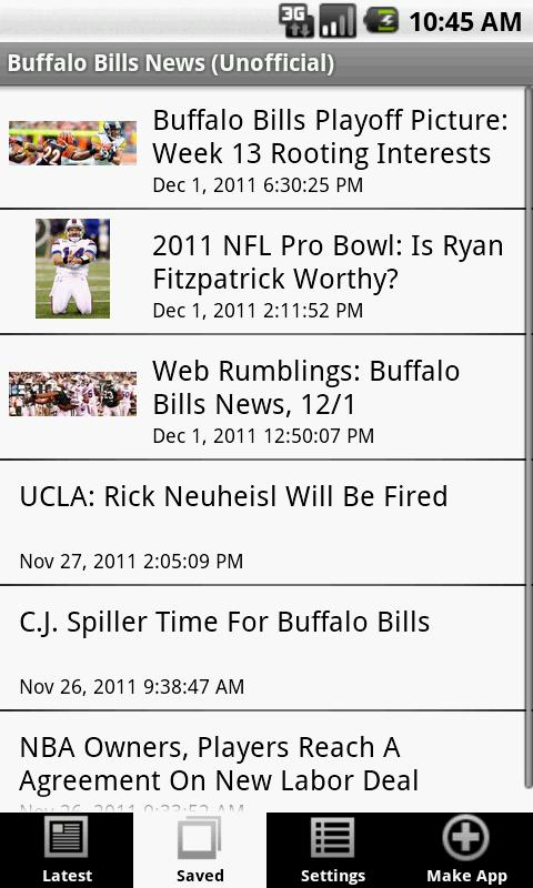 Buffalo Bills News (NFL) - screenshot