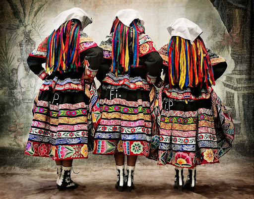 VI, Women's costume for the Tupay dance, province of Espinar, Cusco, Peru 2007