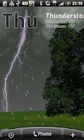 Screenshot of True Weather LWP Free