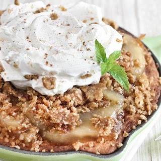Apple Crisp Snickerdoodle Skillet Cookie